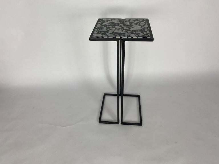 Pair of Nantes Side Tables, by Bourgeois Boheme Atelier 'Model A' In Excellent Condition For Sale In Los Angeles, CA