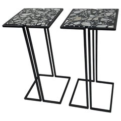Pair of Nantes Side Tables, by Bourgeois Boheme Atelier 'Model A'