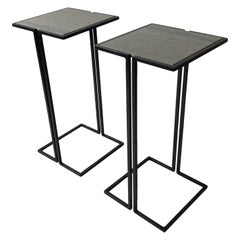 Pair of Nantes Side Tables, by Bourgeois Boheme Atelier 'Model B'