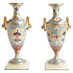 Pair of Napoleon III Amphorae