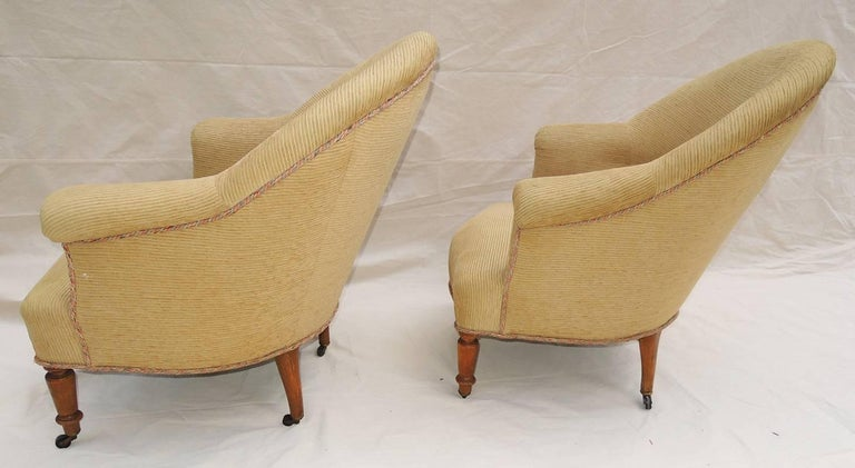 French Pair of Napoleon III Armchairs For Sale