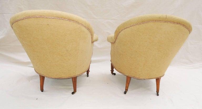 Woodwork Pair of Napoleon III Armchairs For Sale