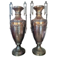 Pair of Napoleon III Empire Vases Brass, France, 1860