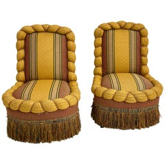 Pair of Napoleon III Fauteuils