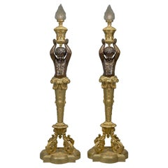 Pair of Napoléon III Gilt Bronze Torcheres by Goelzer and Poumaroux, circa 1890