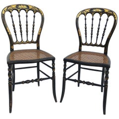 Pair of Napoléon III Side Chairs