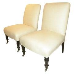 Pair of Napoleon III Slipper Chairs