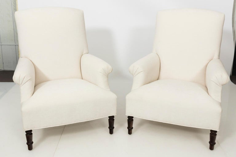Pair of Napoleon III Style Armchairs For Sale 9