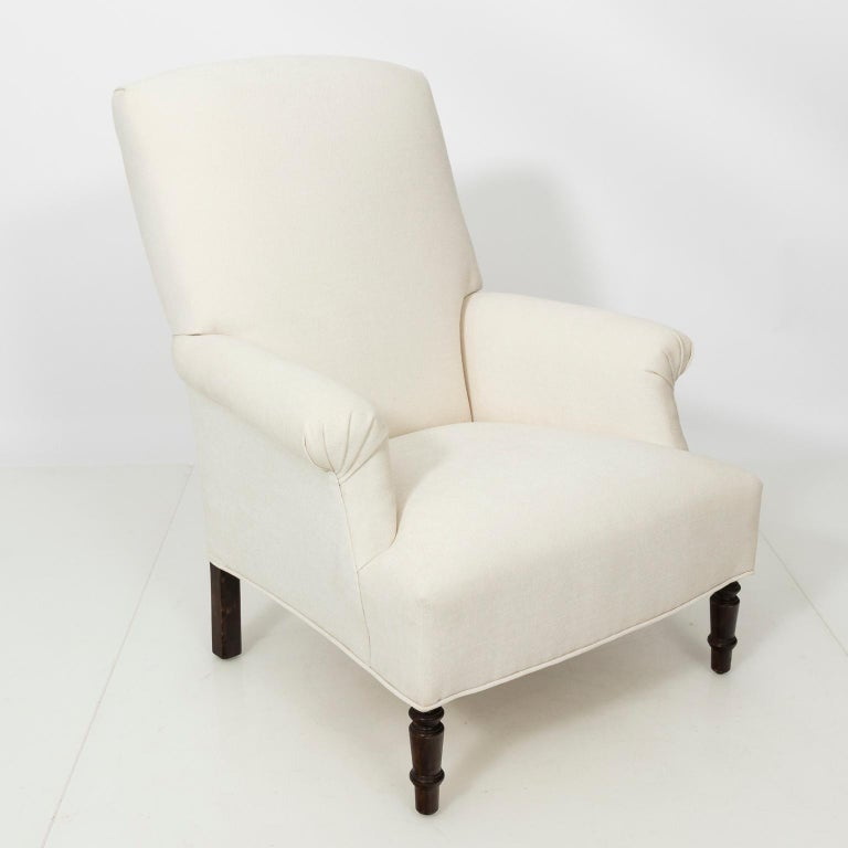 Upholstery Pair of Napoleon III Style Armchairs For Sale