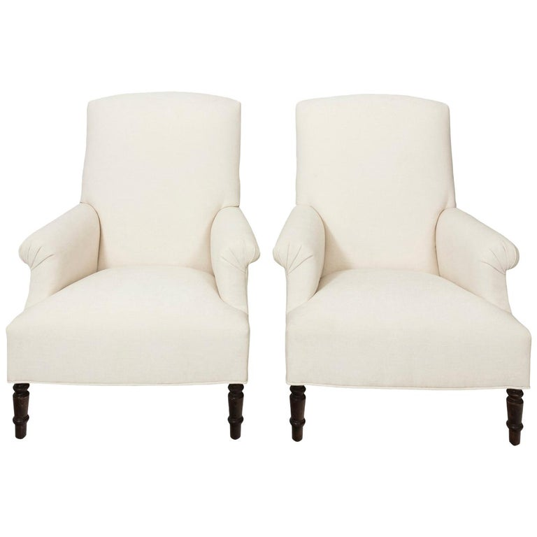 Pair of Napoleon III Style Armchairs For Sale