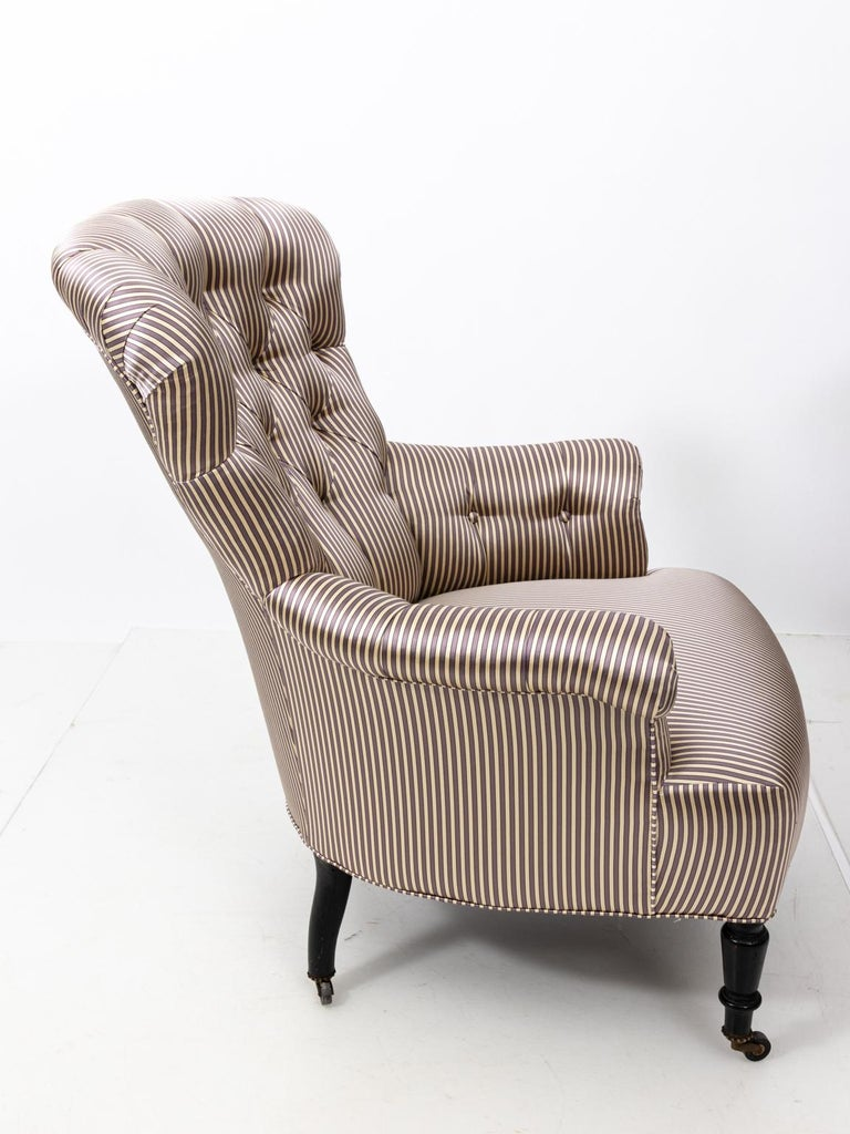 Pair of Napoleon III Upholstered Chairs For Sale 4