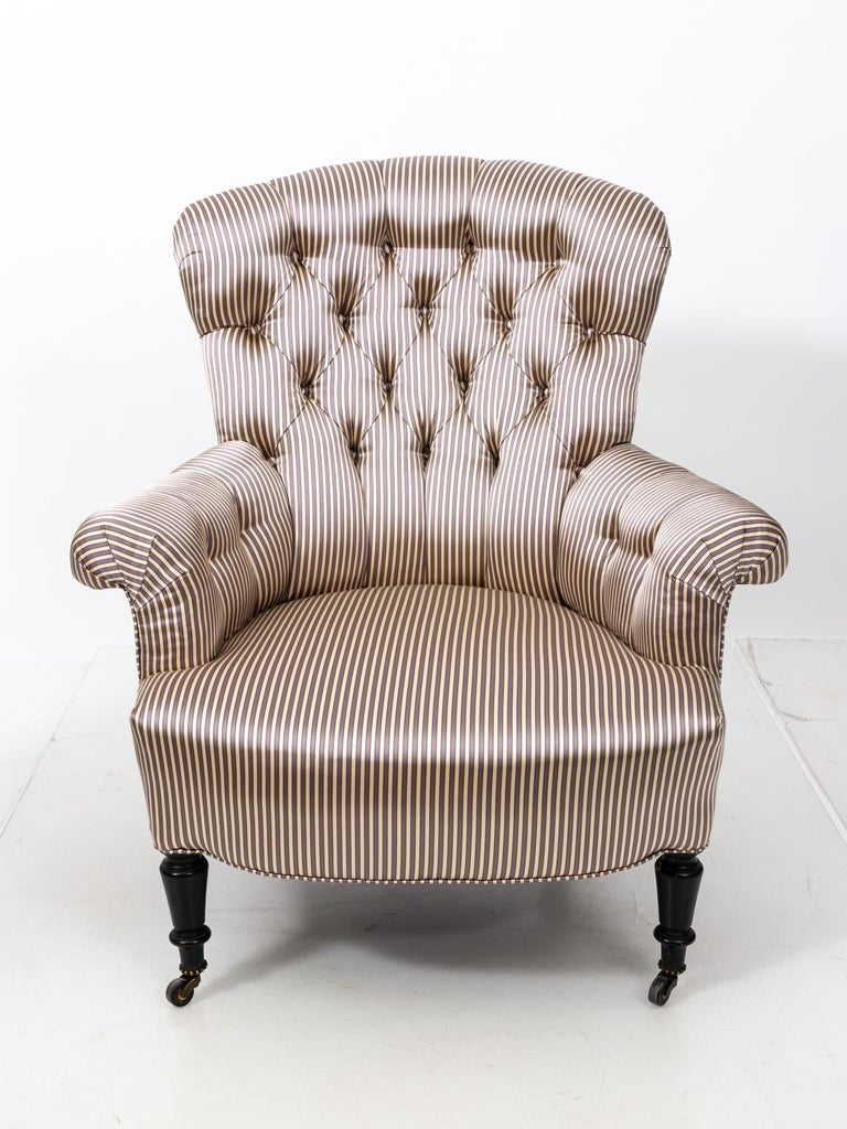 Pair of Napoleon III Upholstered Chairs For Sale 6