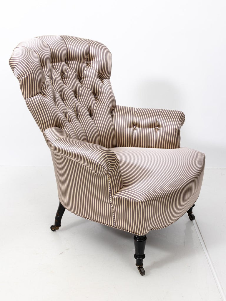 Pair of Napoleon III Upholstered Chairs For Sale 7