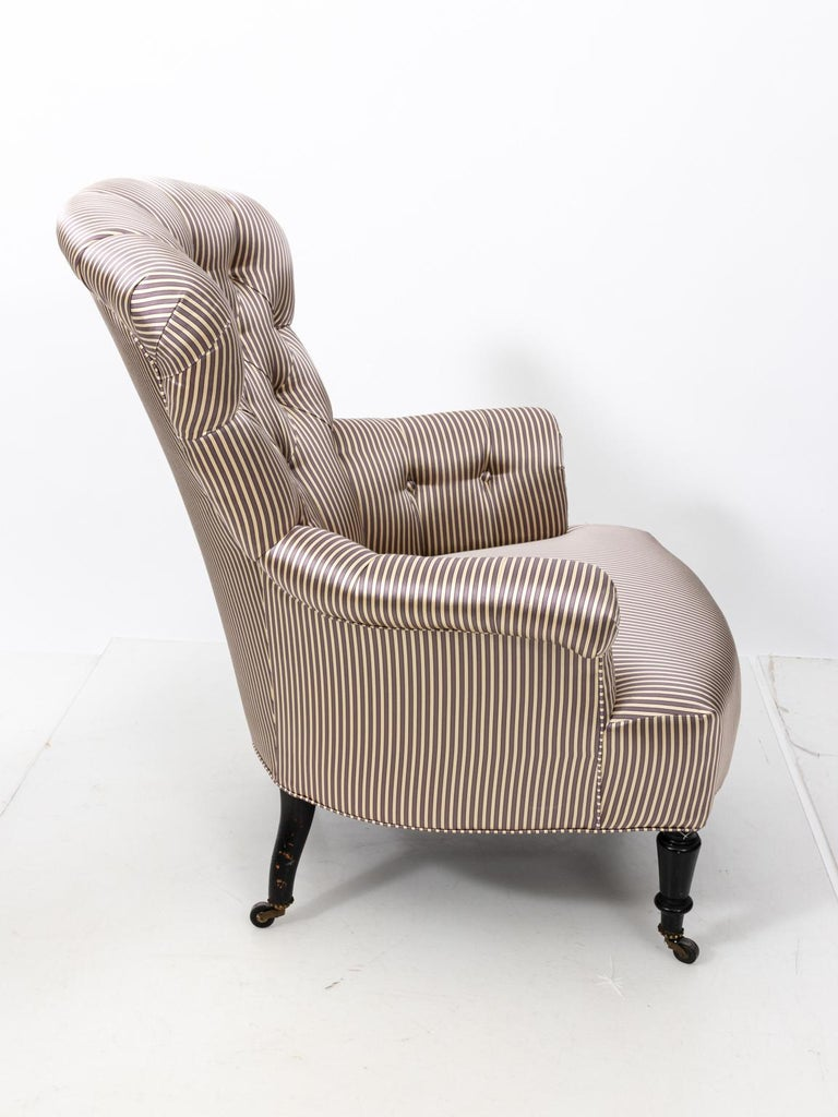Pair of Napoleon III Upholstered Chairs For Sale 11