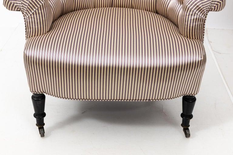 Hardwood Pair of Napoleon III Upholstered Chairs For Sale