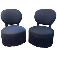 Pair of Napoleon Style Slipper Chairs