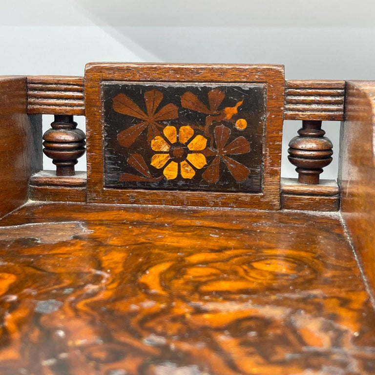 Pair of Narrow European 4 Drawer Nightstand or End Tables, Circa 1900 5