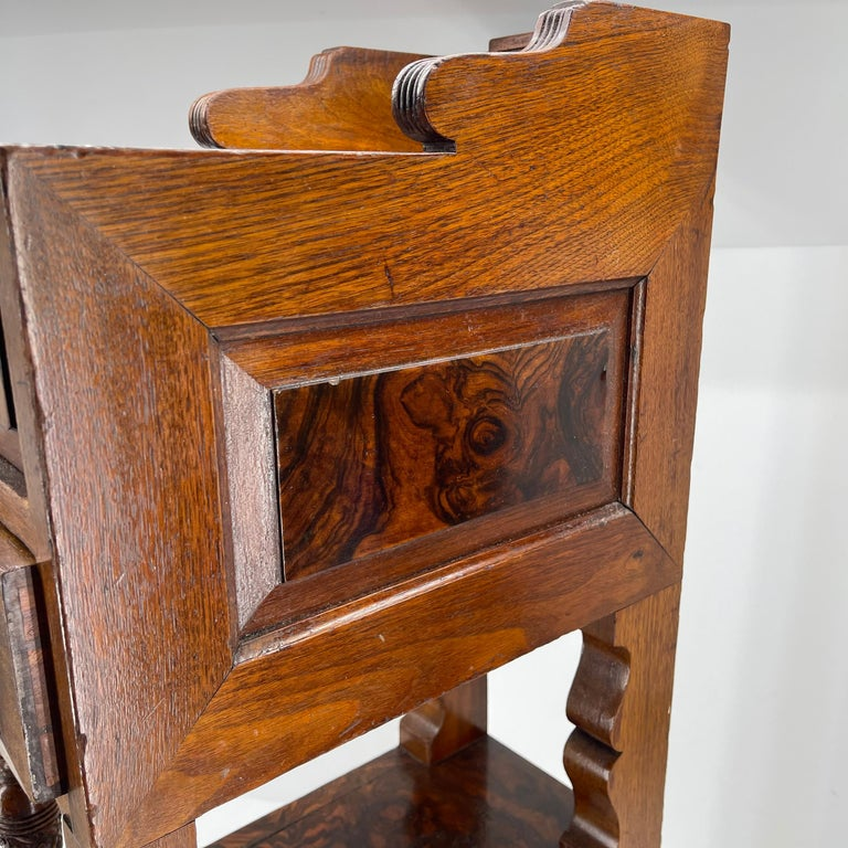 Pair of Narrow European 4 Drawer Nightstand or End Tables, Circa 1900 7