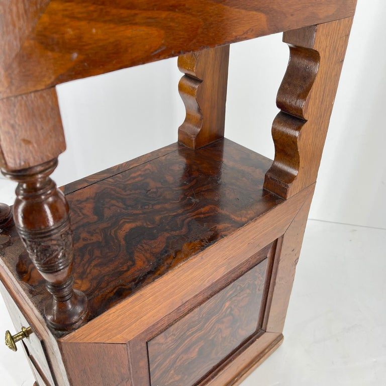 Pair of Narrow European 4 Drawer Nightstand or End Tables, Circa 1900 8