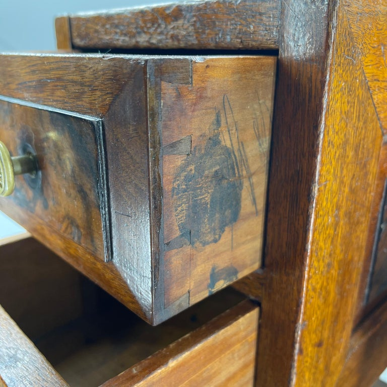 Pair of Narrow European 4 Drawer Nightstand or End Tables, Circa 1900 12