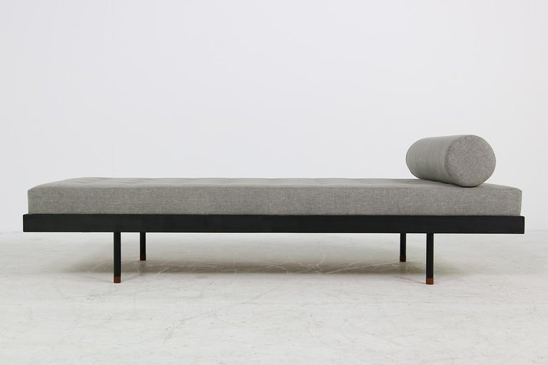 Pair of Nathan Lindberg 'Black Edition' Daybed Larch Wood, Metal, Teak, Grey For Sale 4