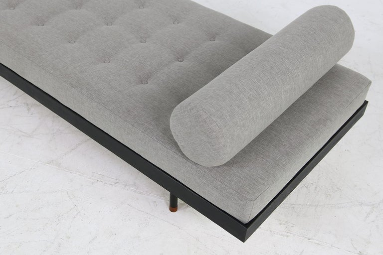 Pair of Nathan Lindberg 'Black Edition' Daybed Larch Wood, Metal, Teak, Grey For Sale 5