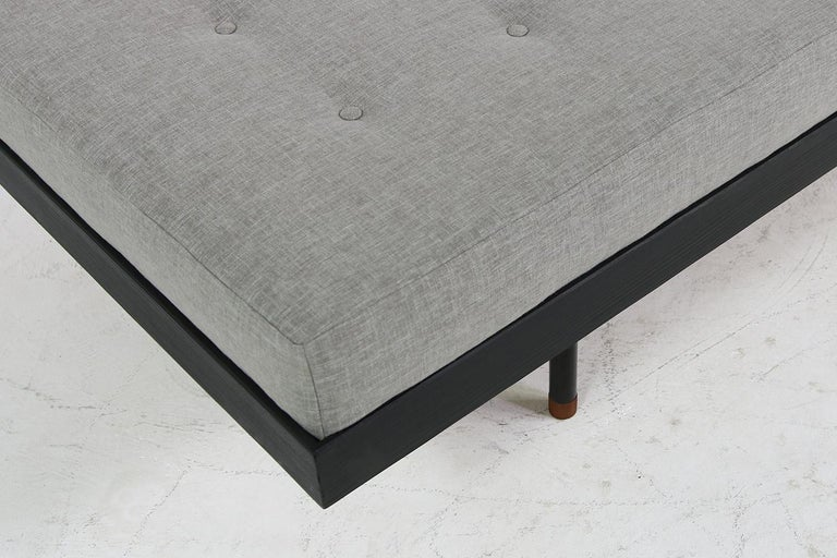 Pair of Nathan Lindberg 'Black Edition' Daybed Larch Wood, Metal, Teak, Grey For Sale 6