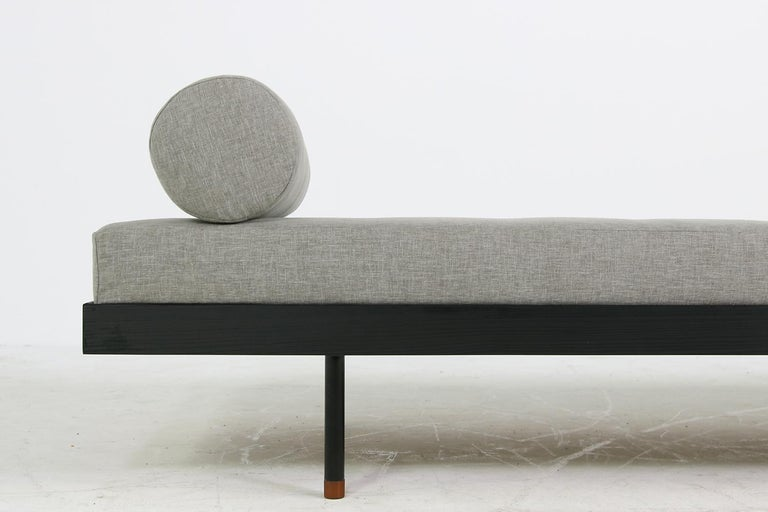 Contemporary Pair of Nathan Lindberg 'Black Edition' Daybed Larch Wood, Metal, Teak, Grey For Sale
