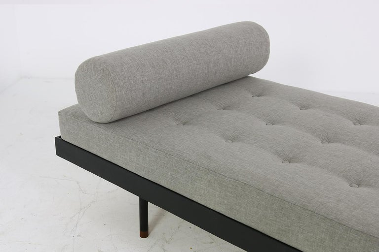 Pair of Nathan Lindberg 'Black Edition' Daybed Larch Wood, Metal, Teak, Grey For Sale 1