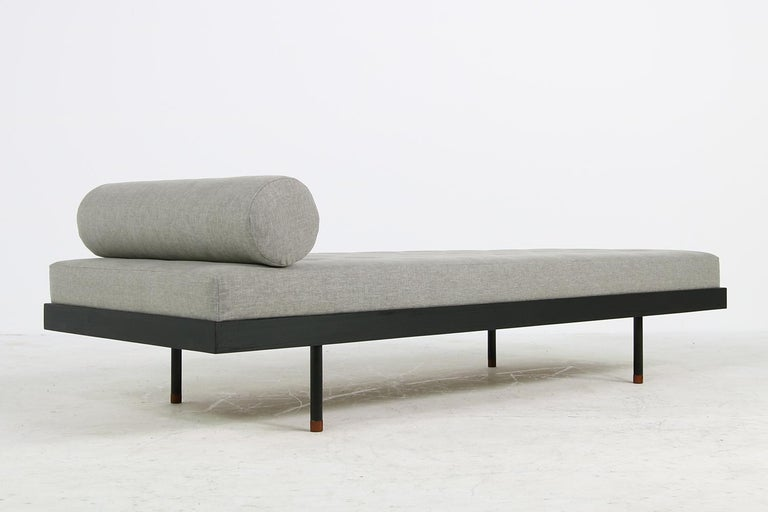 Pair of Nathan Lindberg 'Black Edition' Daybed Larch Wood, Metal, Teak, Grey For Sale 3