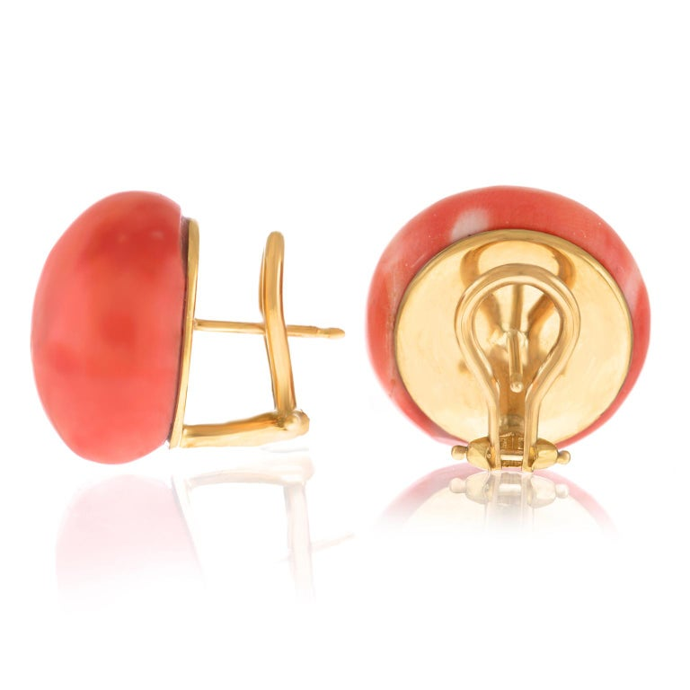 Pair of Natural Coral Earrings GIA For Sale 4