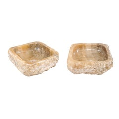Pair of Natural Onyx Sink Basins