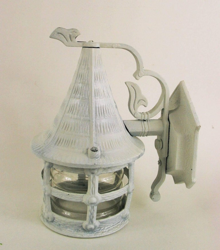 Pair of Nautical Lantern Sconce For Sale 2