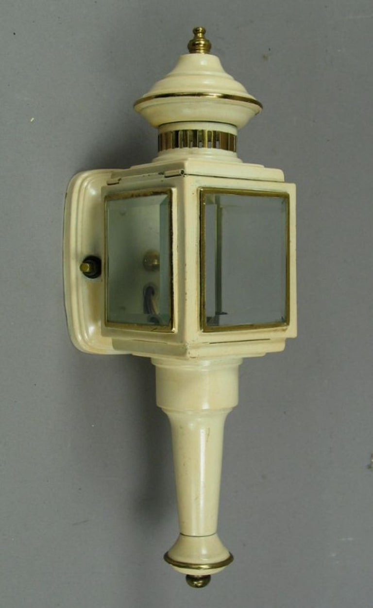 1-4061, lantern wall sconces with beveled glass.