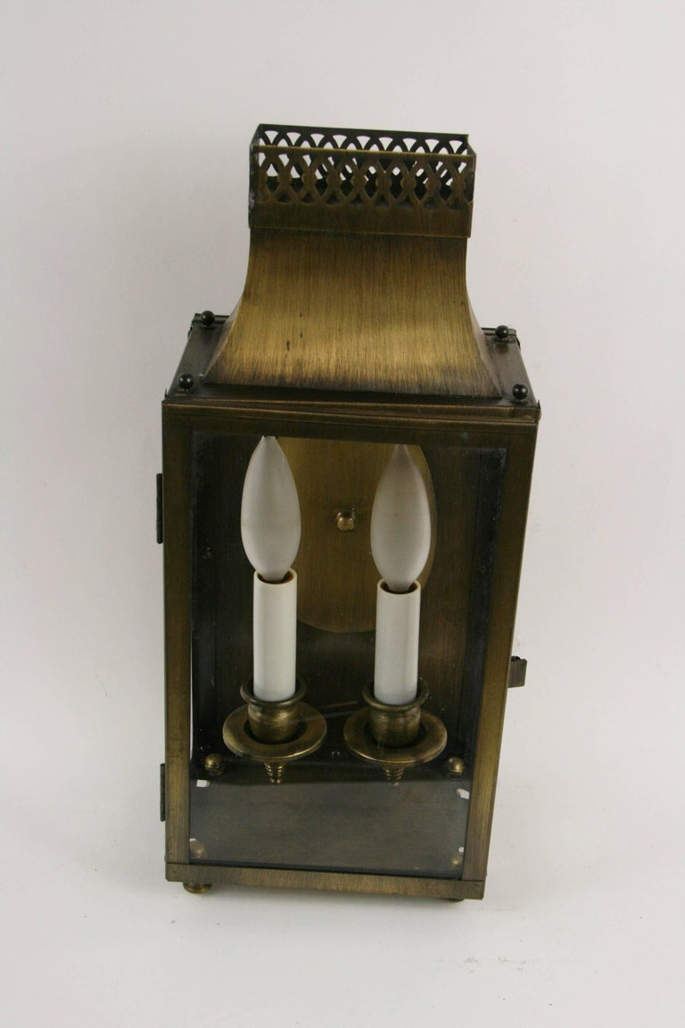 Mid-20th Century Pair of Nautical Lantern Sconces For Sale