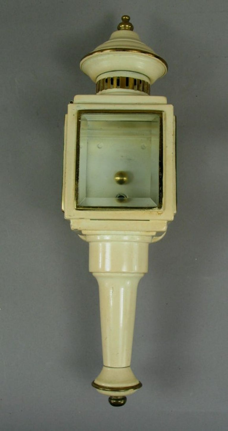 English SALE 40% OFF Pair of Nautical Lantern Sconces For Sale