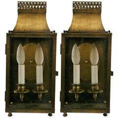 Pair Noutical Lantern Sconces