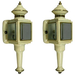 Pair of Carriage Lantern Sconces