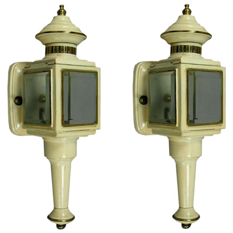 SALE 40% OFF Pair of Nautical Lantern Sconces For Sale