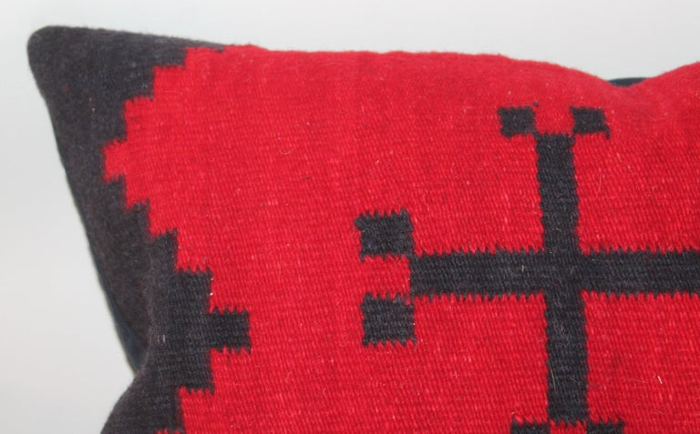 American Pair of Navajo Indian Weaving Pillows For Sale