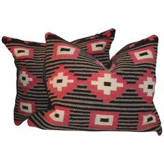 Pair of Navajo Weaving Pillows