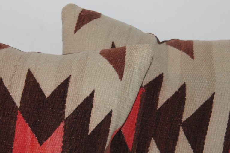Adirondack Pair of Navajo Weaving Pillows, Pair For Sale