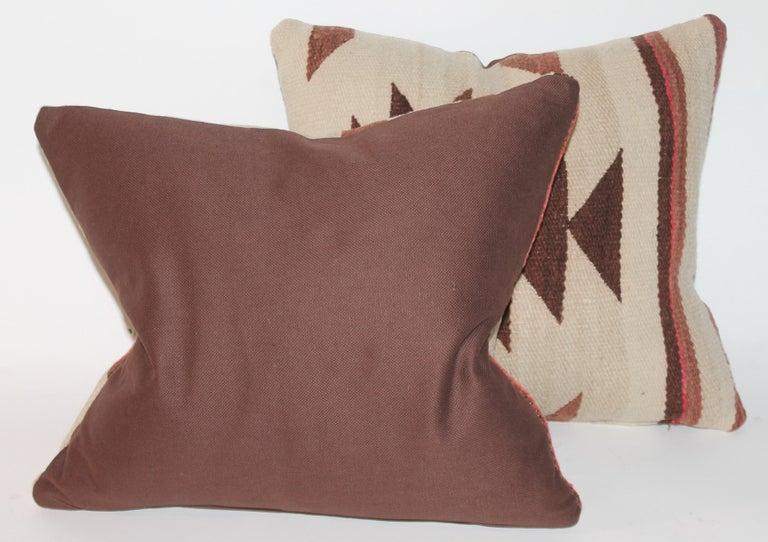 American Pair of Navajo Weaving Pillows, Pair For Sale