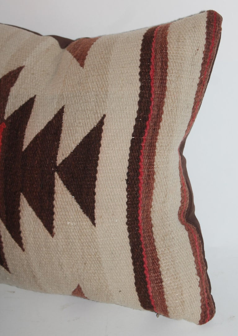 Hand-Crafted Pair of Navajo Weaving Pillows, Pair For Sale