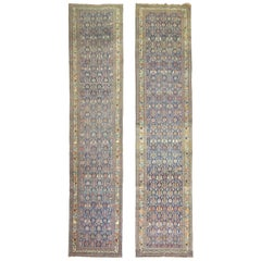Pair of Navy Persian Antique Runners