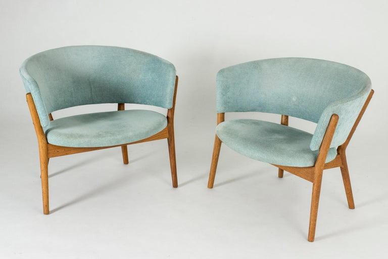 "Pair of ""ND 83"" Lounge Chairs by Nanna Ditzel for Søren Willadsen In Good Condition In Stockholm, SE"