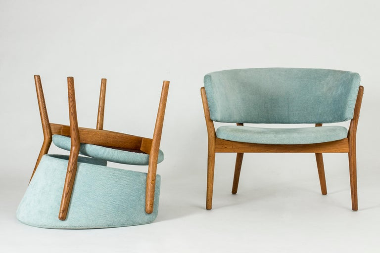 "Mid-20th Century Pair of ""ND 83"" Lounge Chairs by Nanna Ditzel for Søren Willadsen"