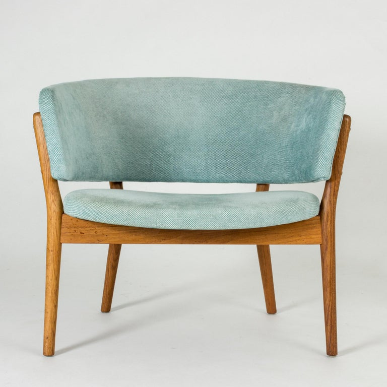 "Textile Pair of ""ND 83"" Lounge Chairs by Nanna Ditzel for Søren Willadsen"