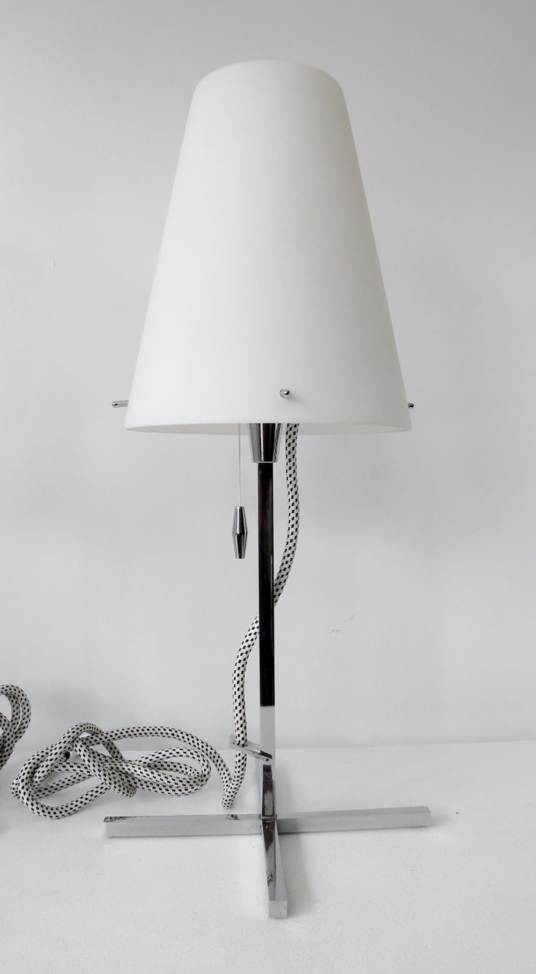 Modern Pair of Nemo Italy Thuban Tavolo Table Lamps For Sale
