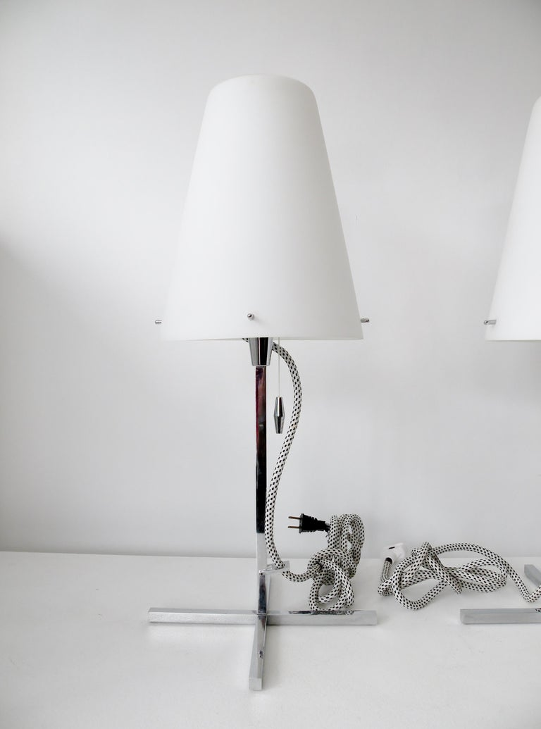 Italian Pair of Nemo Italy Thuban Tavolo Table Lamps For Sale